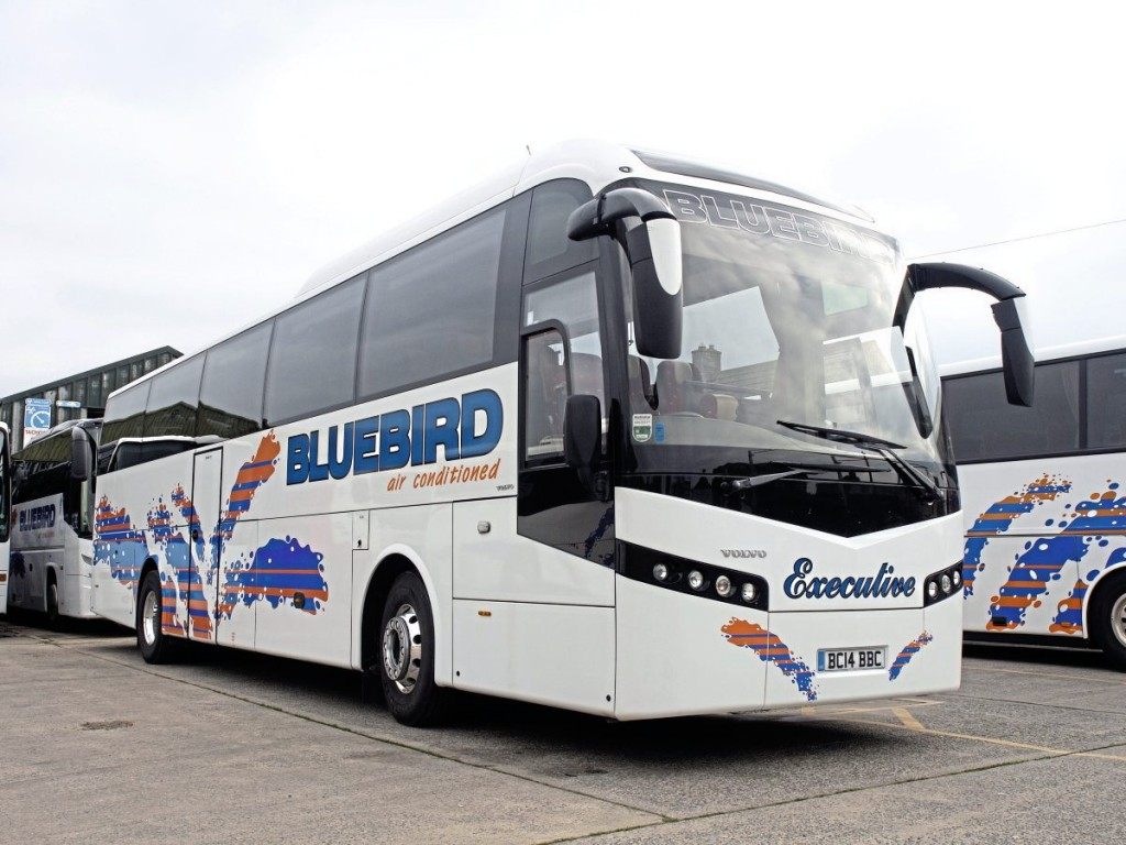 Bluebird's fleet is centred on DAF and Volvo-based coaches