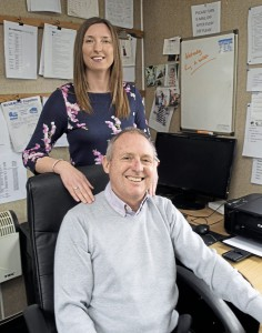 Martyn Hoare and daughter Gemma, who joined the family firm in 2013. Martyn's brother, Steve, is a Director, and Steve's wife, Gill, masterminds data and IT