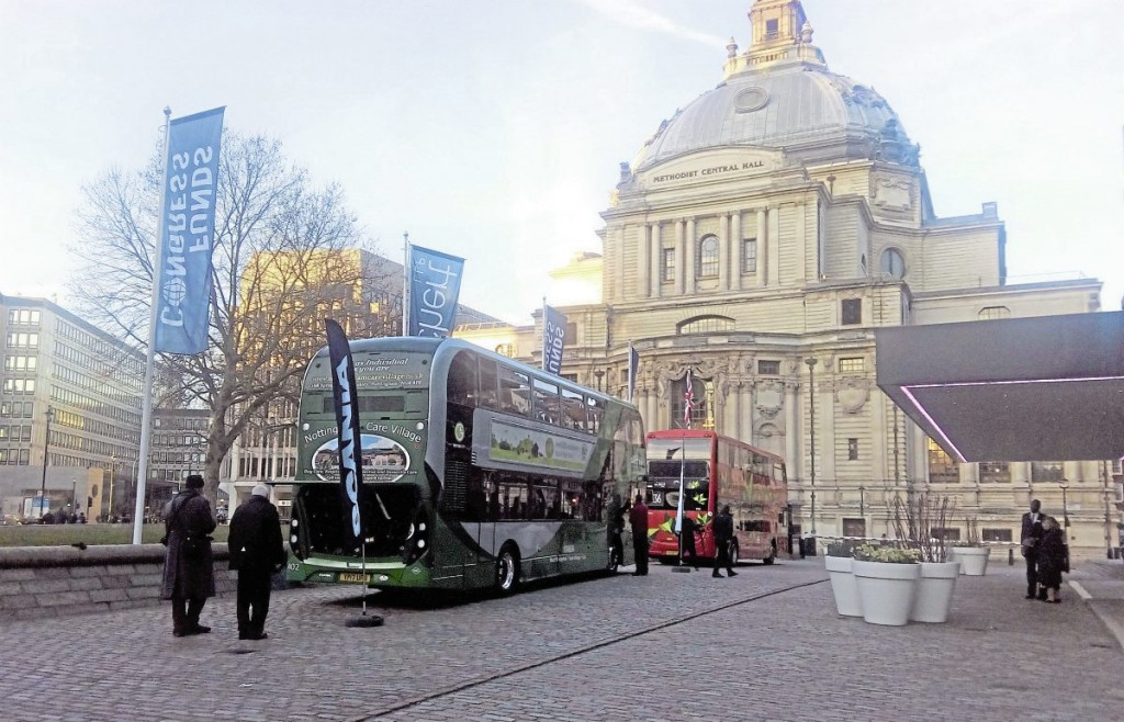 Outside, delegates could take a hands-on look at examples of a gas bus, electric bus and Peter Hendy's Euro VI Routemaster
