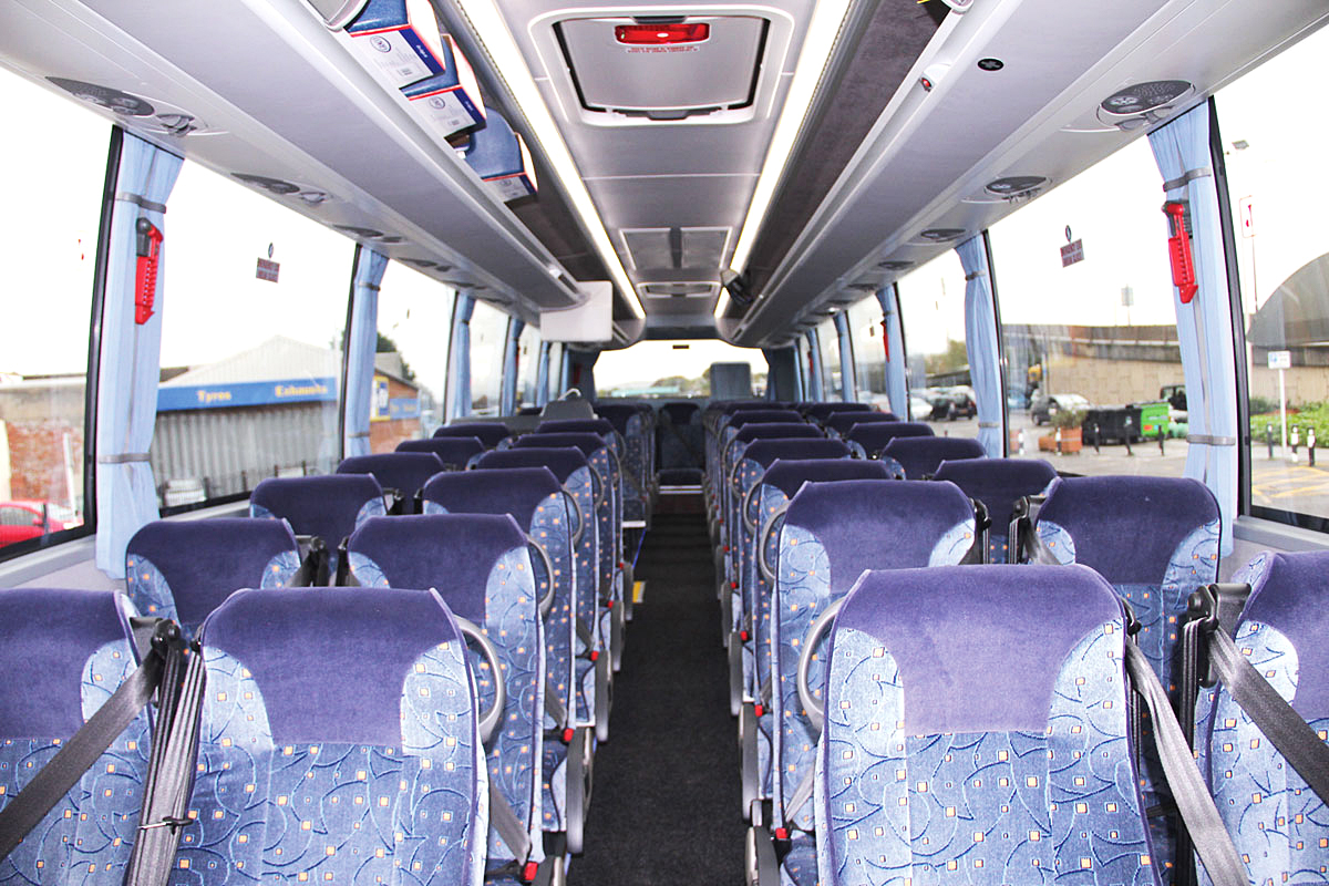 The 49-seat interior of one of the four new Caetano coaches.