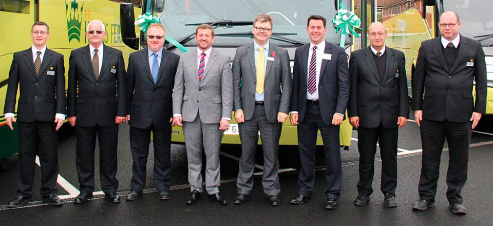 The Kings Ferry launch team with (LtoR) Mark Purchase, Ian Fraser, Tom Stables and Danny Elford flanked by drivers.