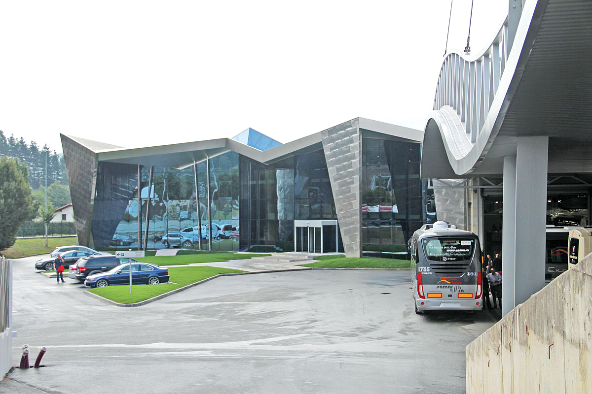 The frontage of the new building.