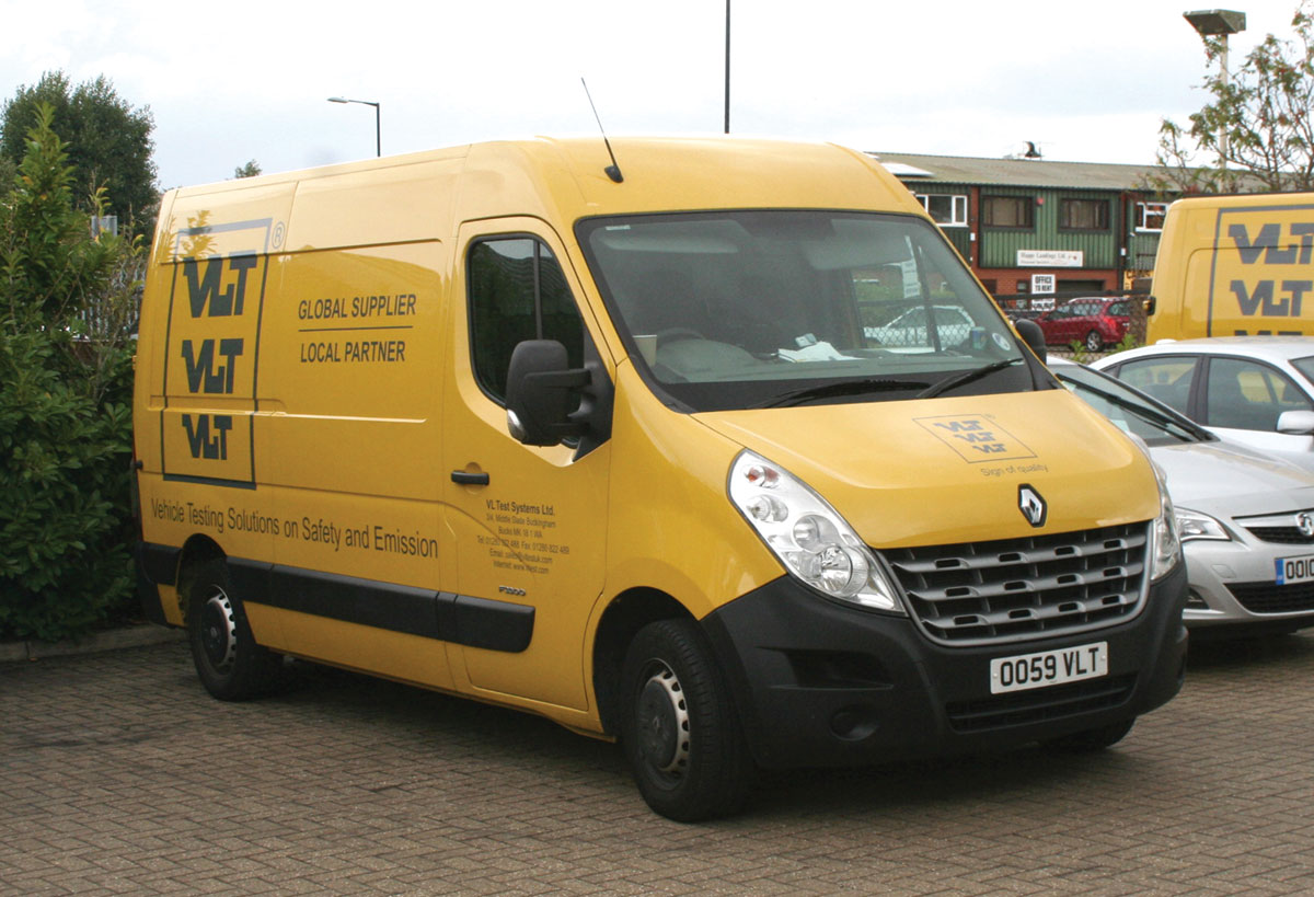 One of the company's engineering vans. Note the personalised number plate.