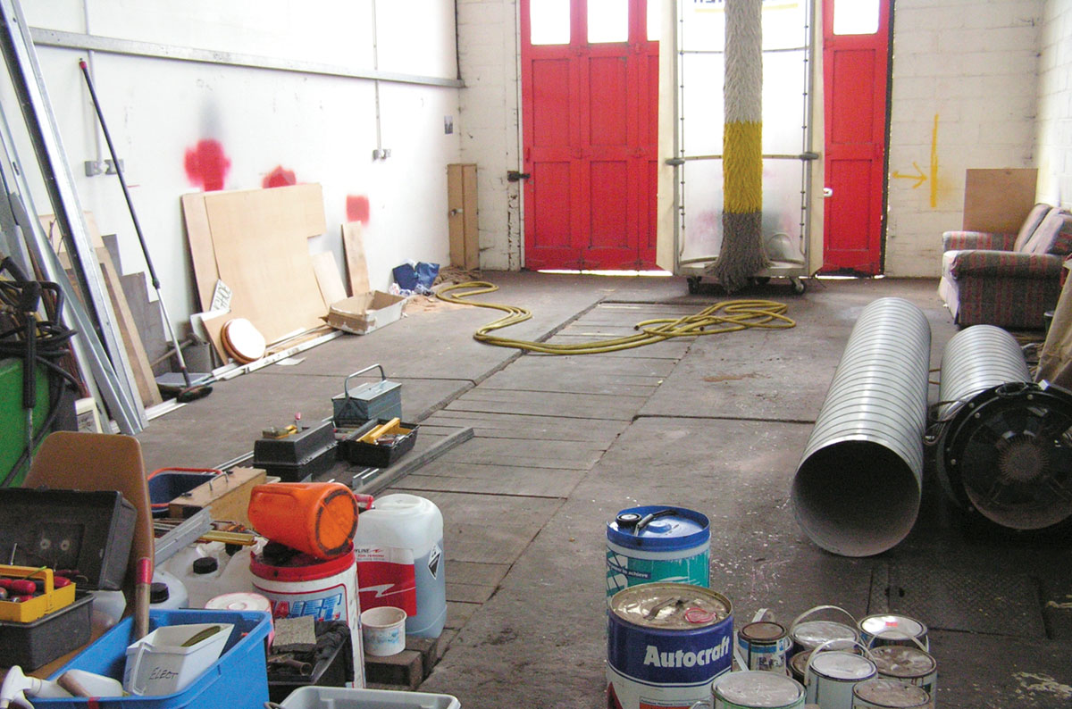 This space at Hedingham Omnibuses' depot is about to have an ATF lane installed.