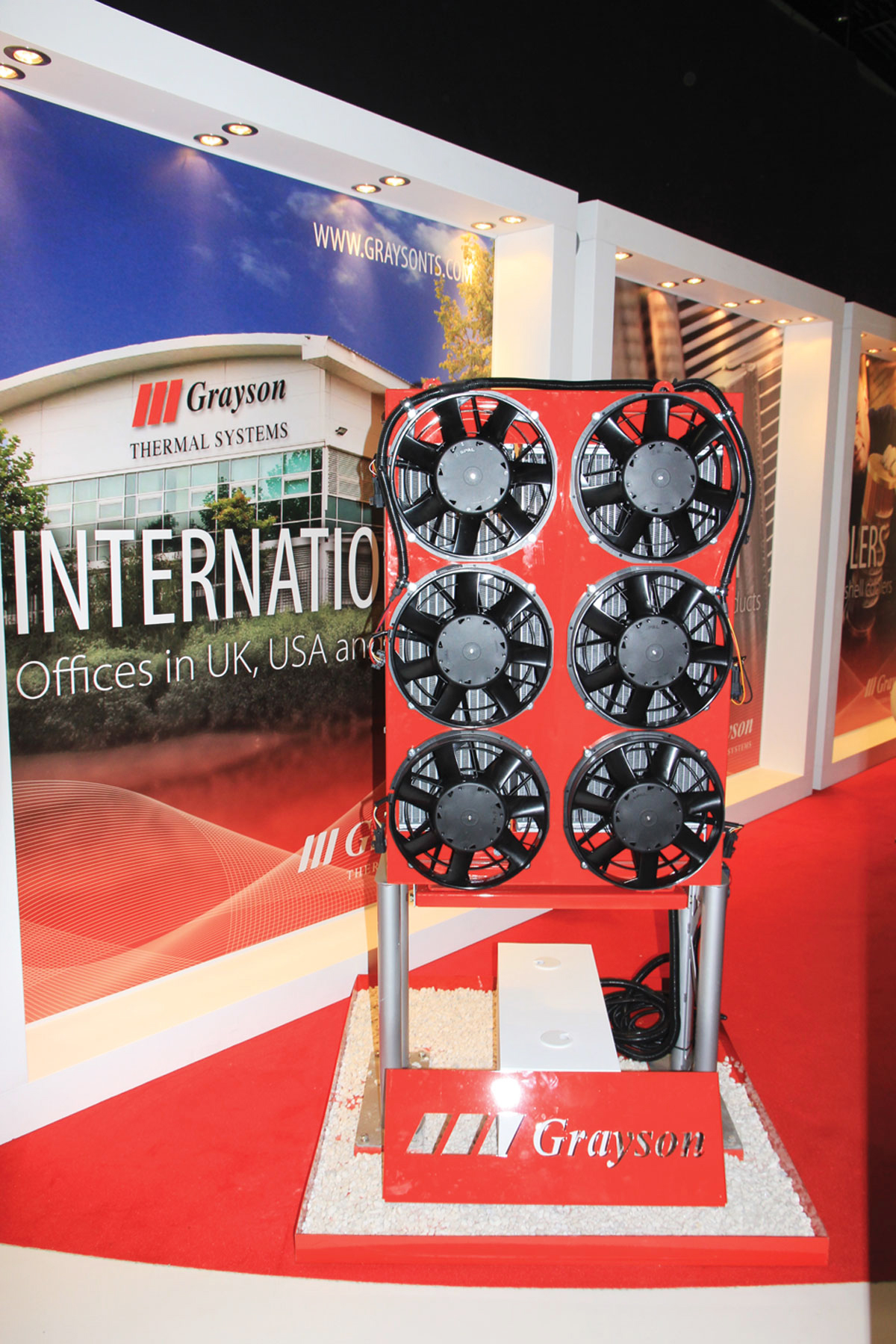 The E-Drive system on display at Grayson Thermal Systems' stand.