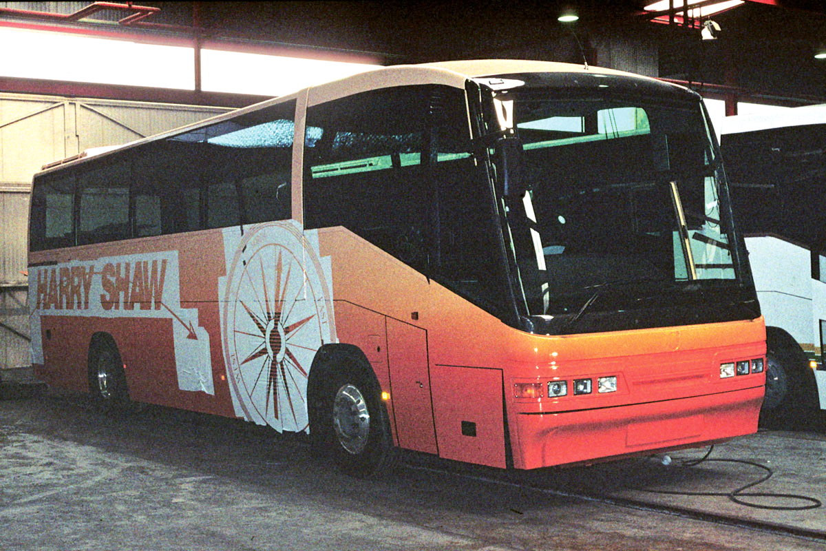The very first Scania Irizar delivered in the UK was this K113CRB Century in Harry Shaw's then new livery.