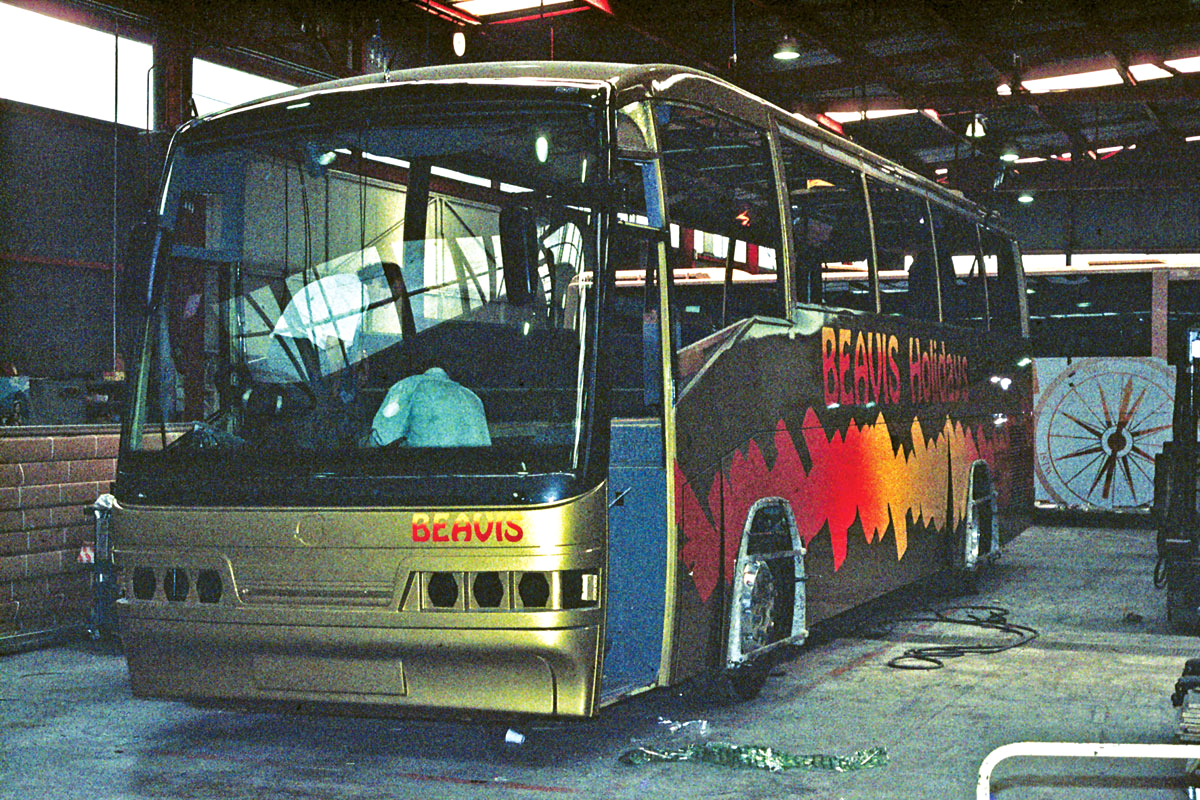 Going down the line at the same time as Harry Shaw's Century was a similar coach for Beavis of Bussage which went on to win the Coach of the Year trophy at Brighton in 1994. Here it is nearing completion on my first visit to the plant 20 years ago.