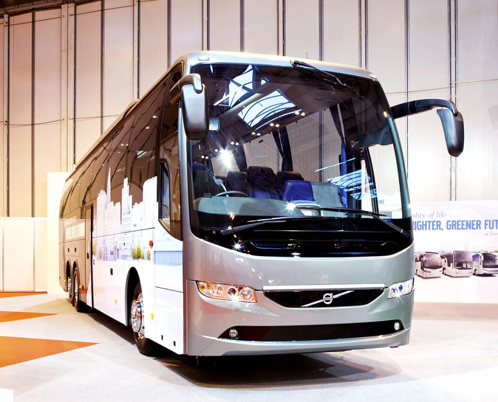 Volvo launched the new look 9700 in the UK at Coach & Bus Live