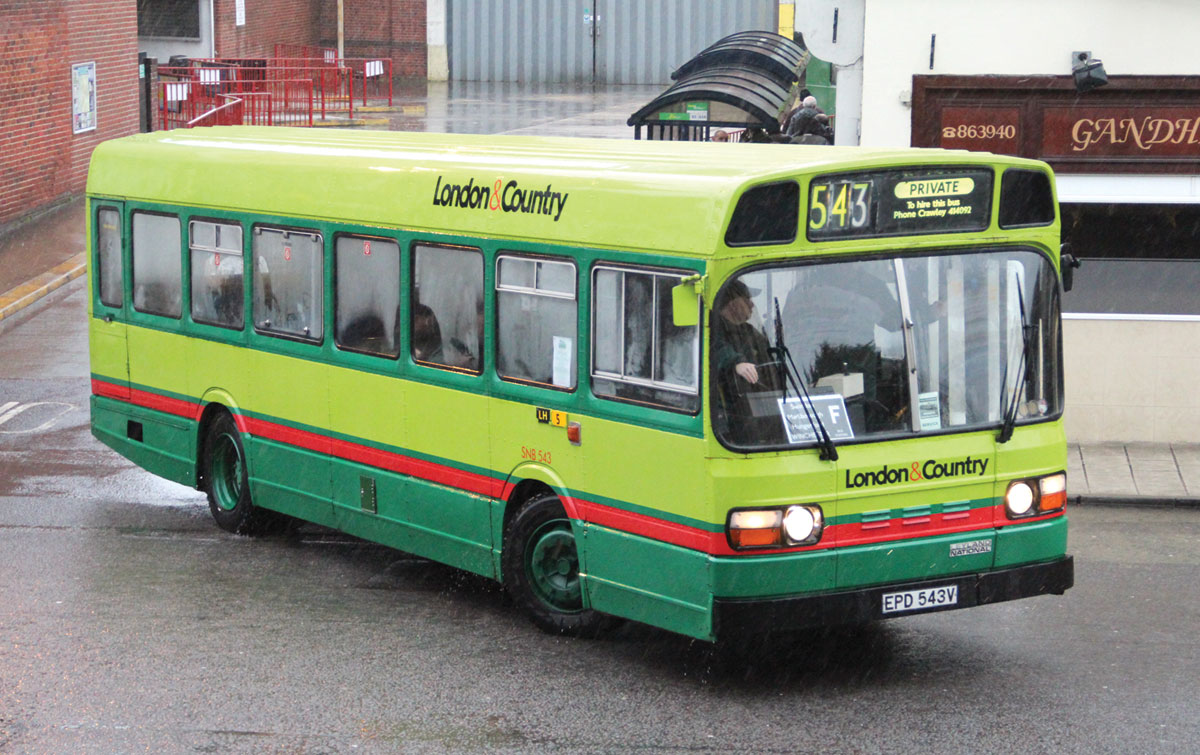 This former London Country National of 1979 is of the pod-less B series variety