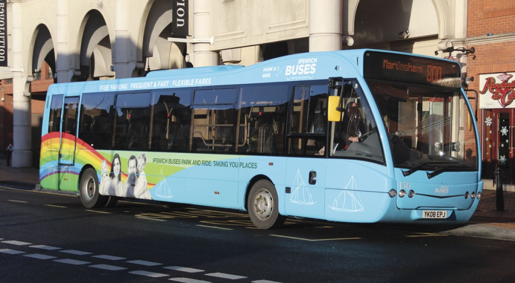 One of eight former Nottingham MAN engined Optare Versas bought from ADL to operate the Park & Ride contract