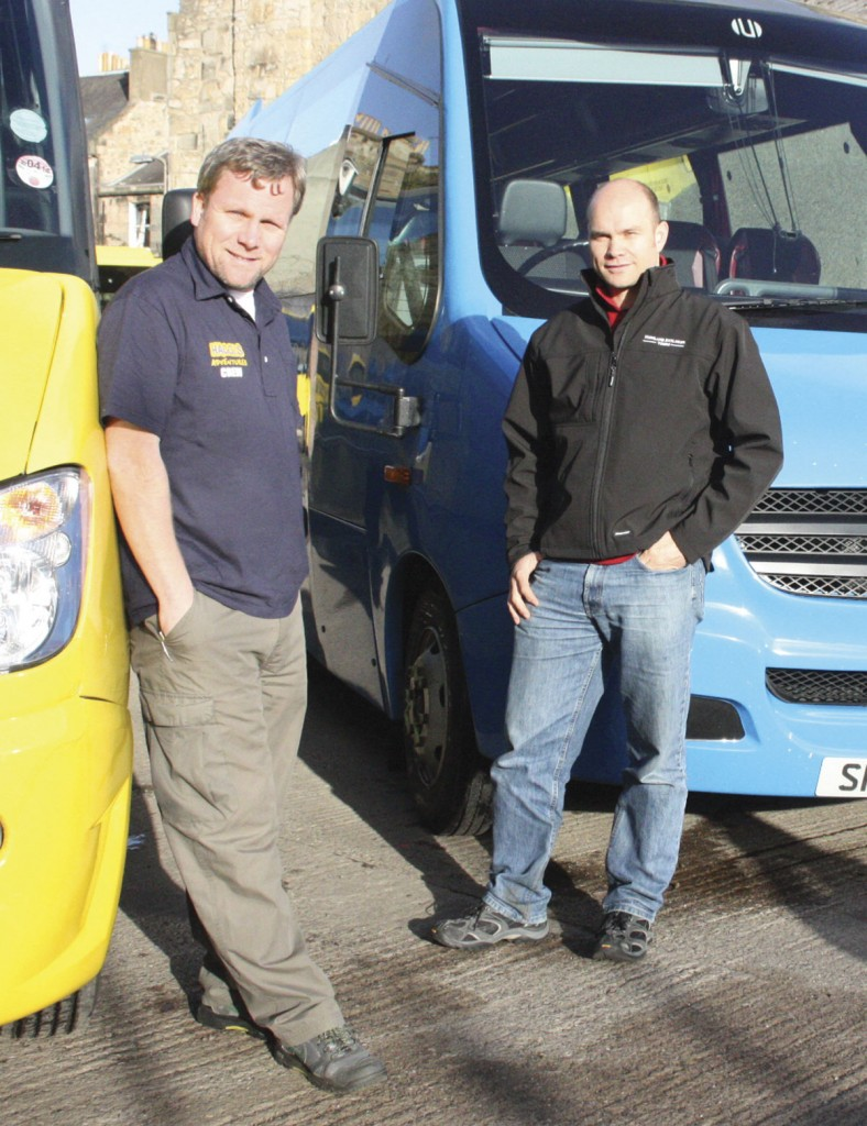 The driving force behind the company – Peter 'Pete' Smith (right) and Douglas 'Dougie' Johnston
