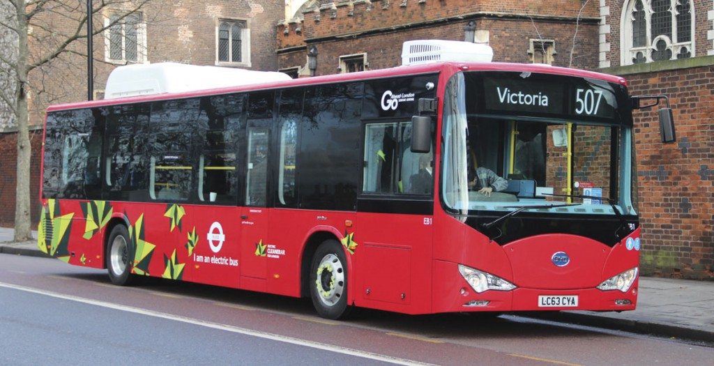 TfL's first full electric buses are these 12m BYD Auto built e-buses which will operate on the 507 initially