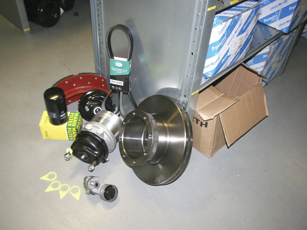 An array of different parts provided by the company