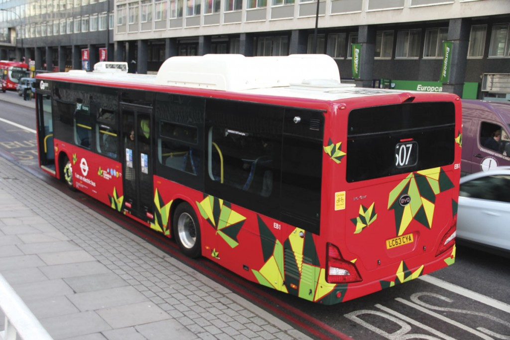 Apart from the substantial roof mounted third battery pack, the buses do not look greatly different to other London buses with conventional drivelines