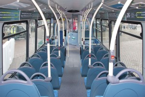 The new vehicles have comprehensive interior signage for the 25/26 routes and the fare options available