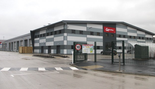 From the road the depot presents a smart appearance with the offices at the front and the workshops beyond