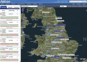Road Tech's Falcon telematics system tracks vehicles throughout Europe and connects to the vehicle's CANbus system for accurate fuel consumption data