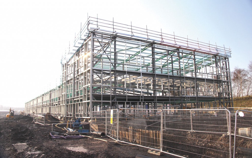 At the far end of the main building the structure will be three storeys high, with the directors' suite on the top floor