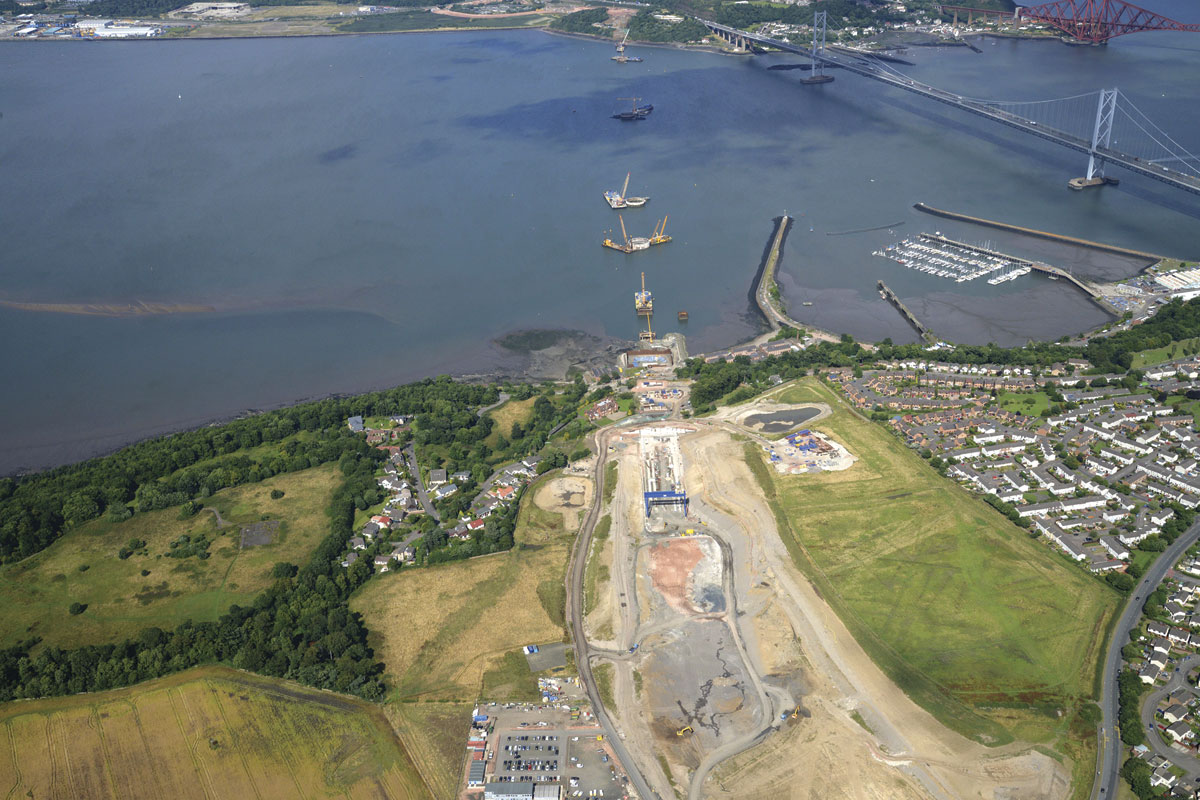 Construction of the new Forth Road Bridge is well underway. (Pic:Transport Scotland)