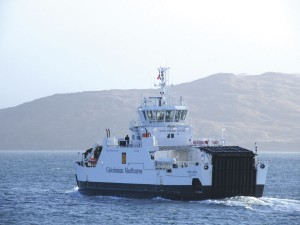 The world's first hybrid powered roll-on/roll-off ferry is CalMac's M.V.Hallaig