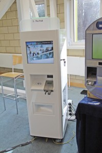 This kiosk unit from The Hub will generate new Smart cards in less than a minute