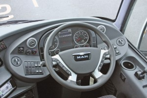 The well laid out dash and the excellent steering wheel with on wheel function switches