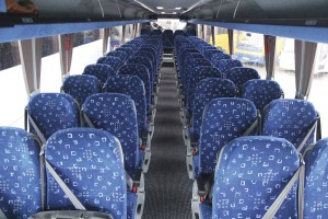 Turkish Brusa seats are specified and were comfortable with good legroom for a 59-seat layout