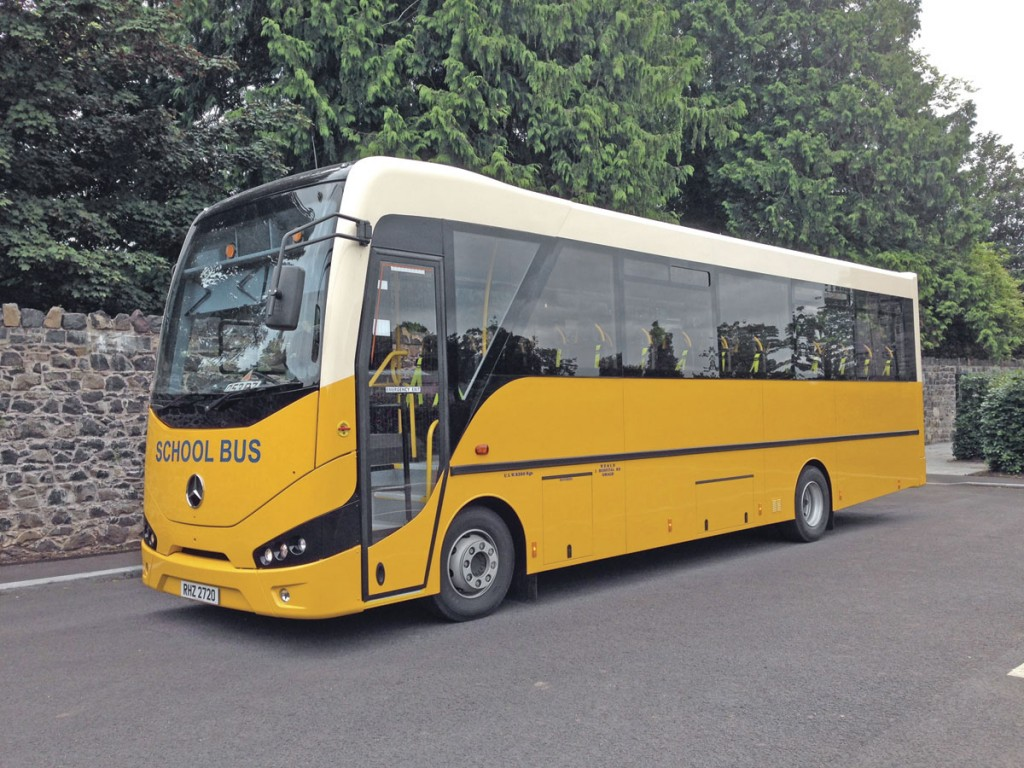 Typical of the larger vehicles built by Nu-Track is this Mercedes-Benz Atego based Merlyn wheelchair accessible coach