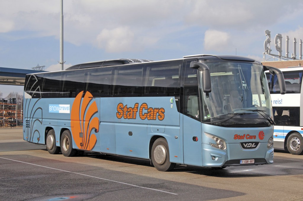 Staf Cars operates 85 coaches and minicoaches. Typical of the company's own touring fleet is this VDL Futura FHD2