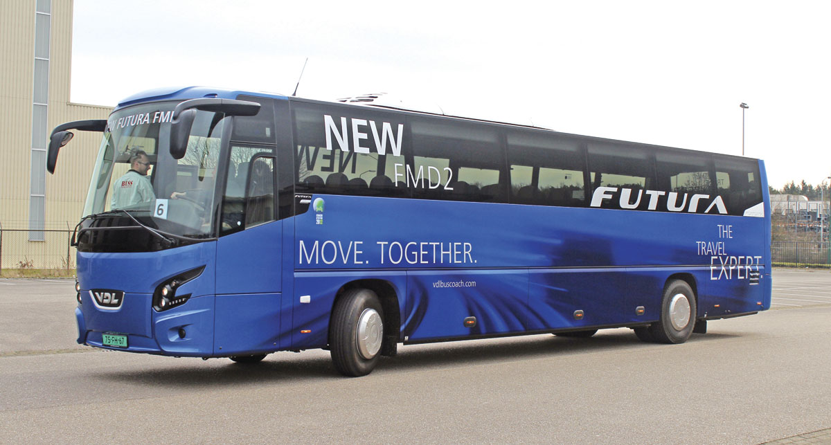 The Bova Futura FMD2-129-330 is a new lower height addition to the VDL coach range