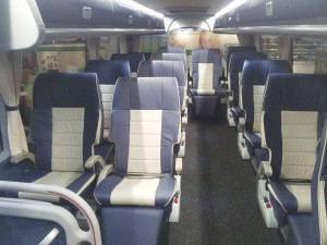 The interior of one of the latest First Class standard Astromegas