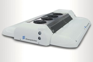 Eberspächer's AC 136 AE electric bus air conditioning system with integrated heat pump
