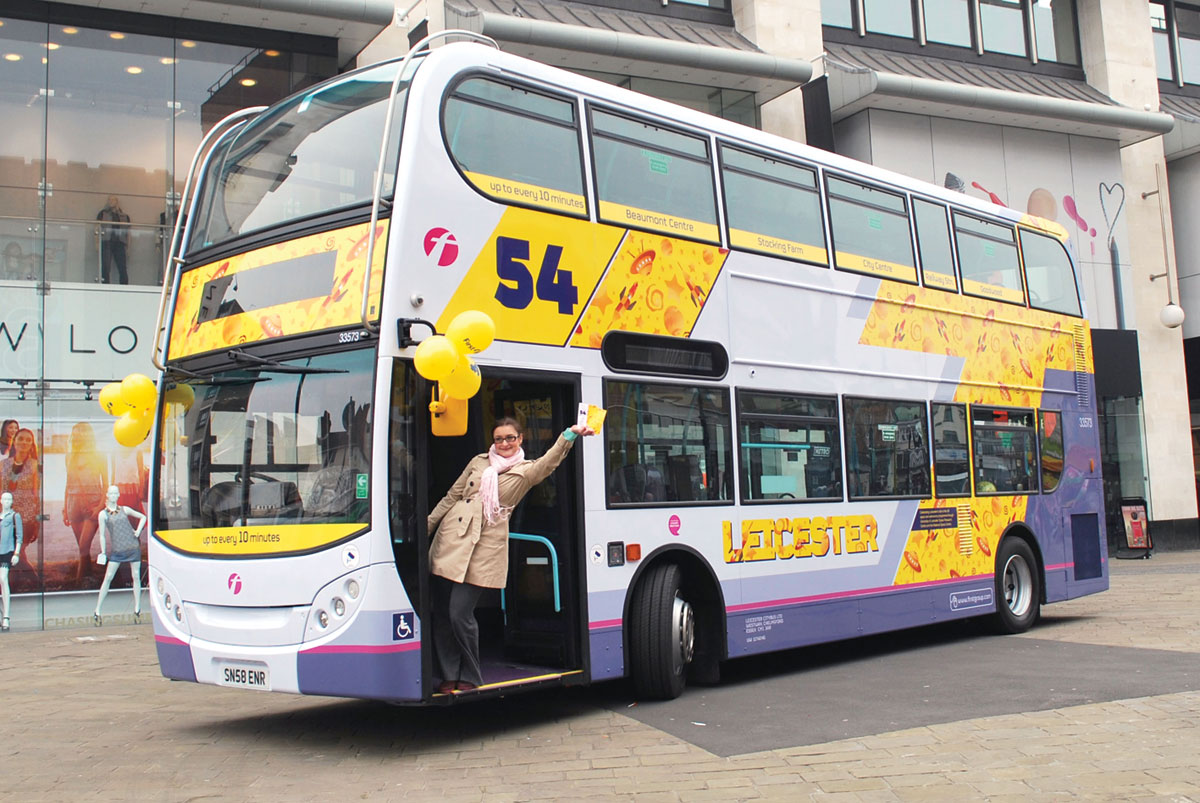 first leicester u2019s new look buses