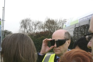 First UK Bus MD, Giles Fearnley dons 'sim specs'