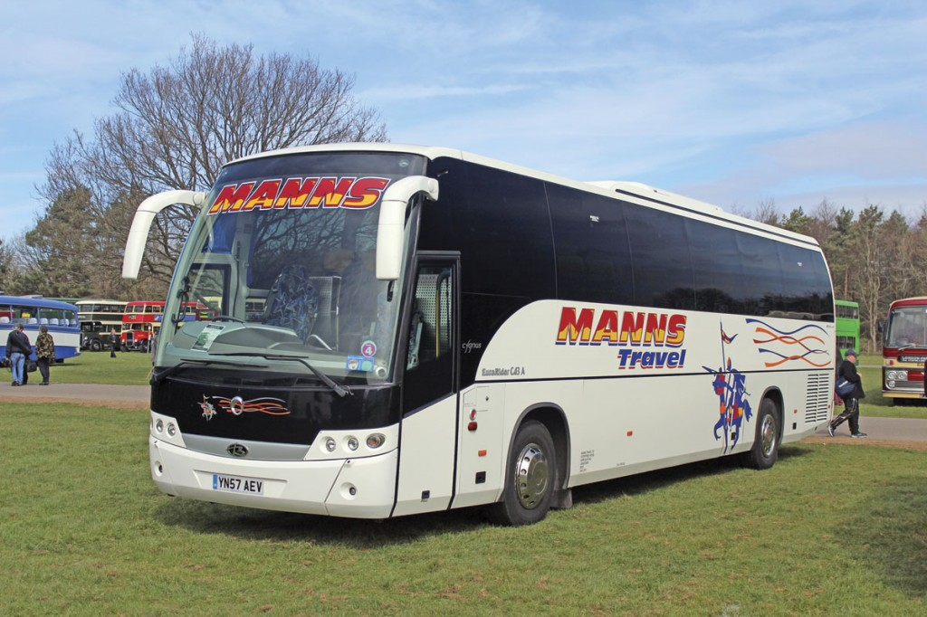 Manns Travel of Gravesend in Kent entered this Beulas Cygnus bodied Iveco EuroRider C43A