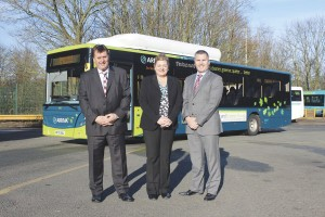 Philip Stone, Regional MD; Sue Madigan, Runcorn depot General Manager and Phil Cummins, Regional Engineering Director