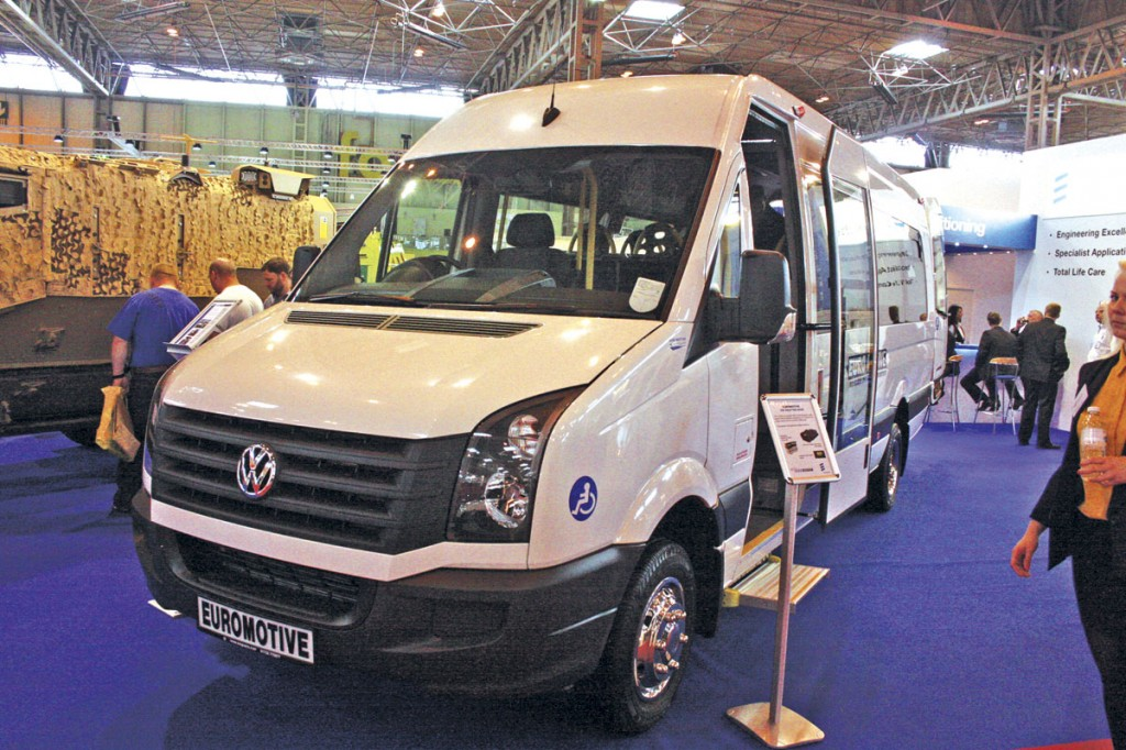 A very neat conversion of a VW Crafter was shown by Euromotive of Kent