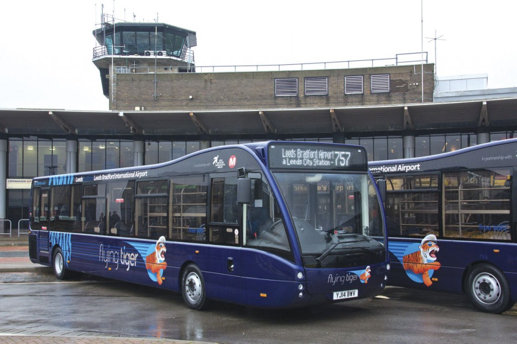 A wet and grey Leeds Bradford Airport welcomed the first Flying Tigers in their Best Impressions designed blue livery with relective brand name