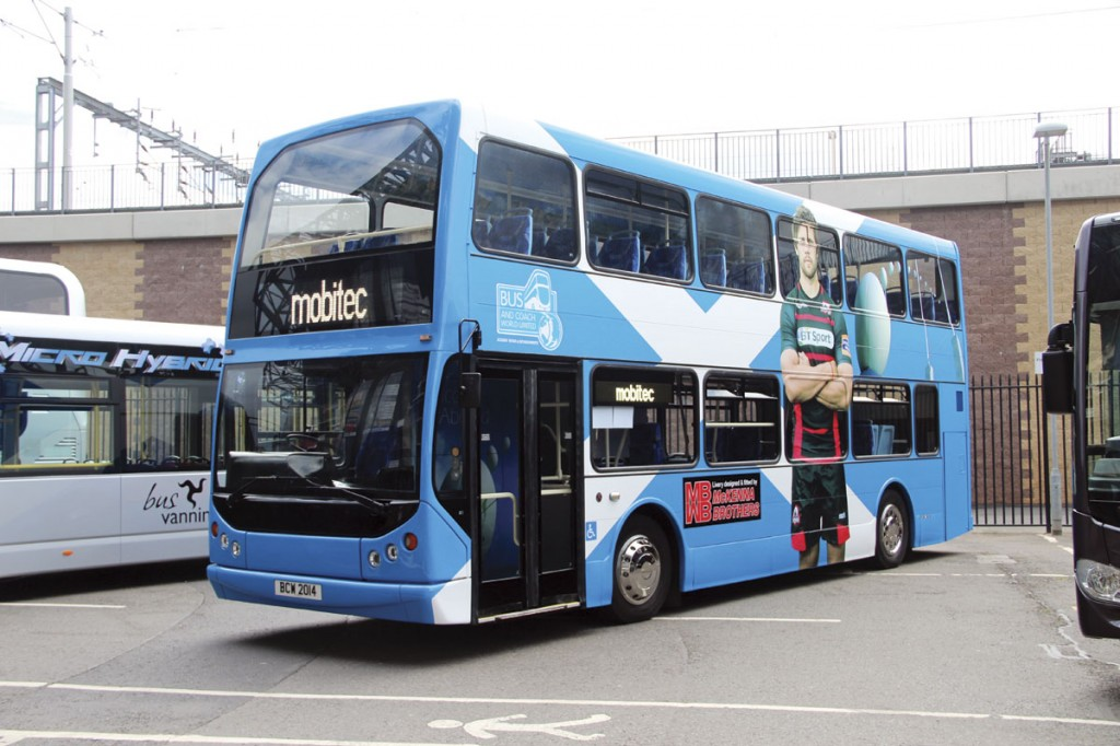 Bus and Coach World's renovated East Lancs bodied DAF DB250LF as seen at the ALBUM Conference