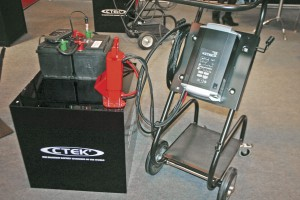 CTEK's new MXTS 70/50 dual voltage (12v and 24v) lead acid battery support unit and smart charger
