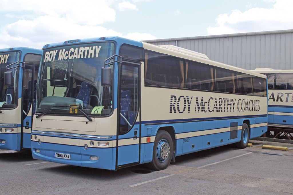 The last of six Plaxton bodied Dennis Javelins bought new by Roy McCarthy Coaches is this 57-seat Profile