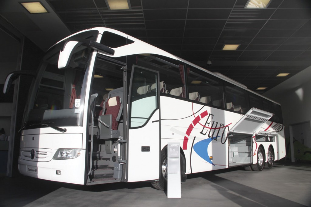 EvoBus is expected to present the new 13m tri-axle version of the Tourismo