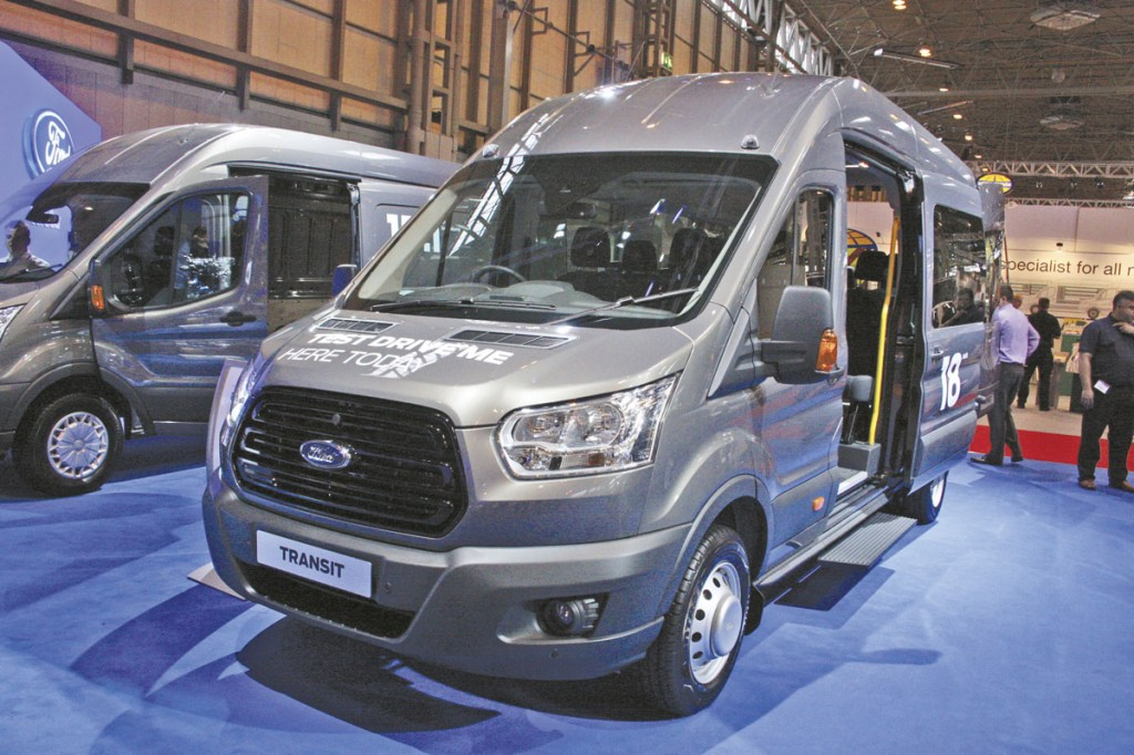 Ford's new Transit range is now complete. This is a factory built minibus version. I'm still not sure about the styling