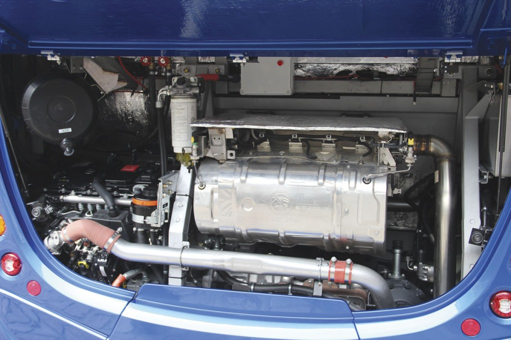Power is from the 5.1-litre Mercedes-Benz OM934 four cylinder unit rated at 230hp-170kW
