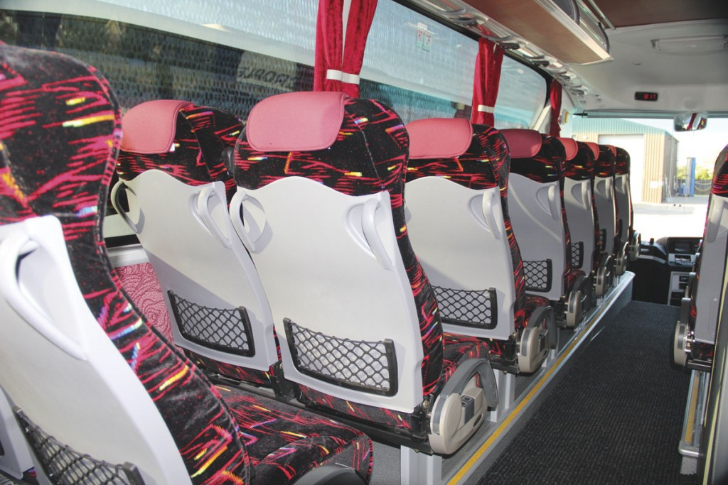 Seat backs incorporate magazine nets