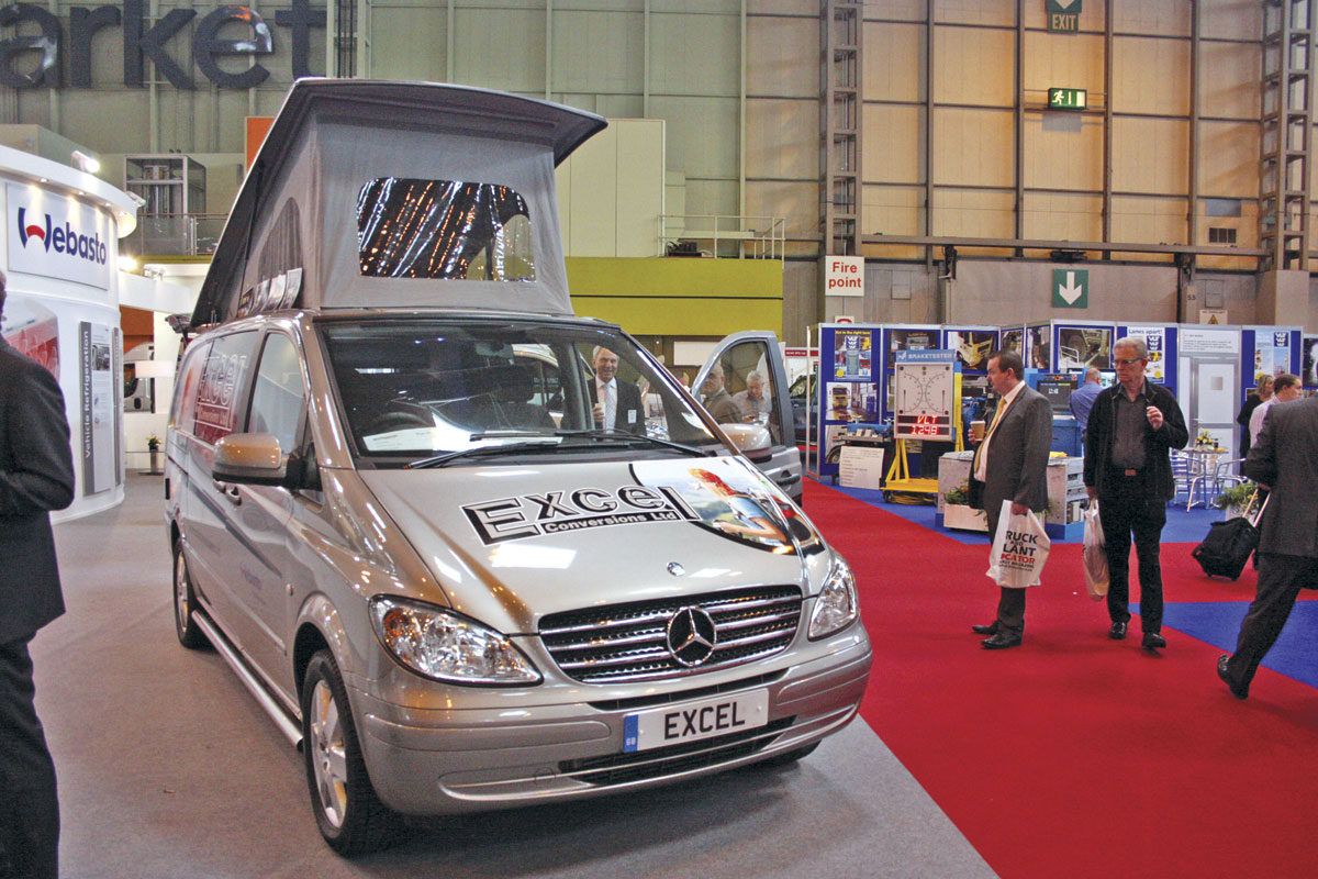 new vans centre stage at cv show bus coach buyer. Black Bedroom Furniture Sets. Home Design Ideas