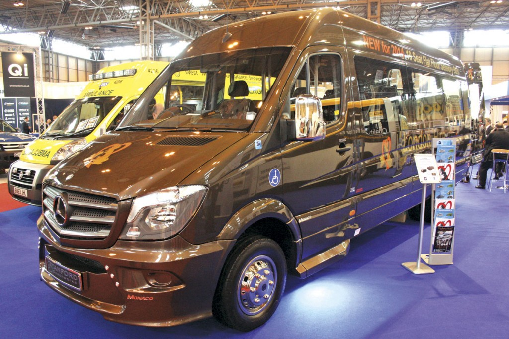 Stanford Coachworks developed this 19 seat sensory conversion of the Sprinter for London Hire