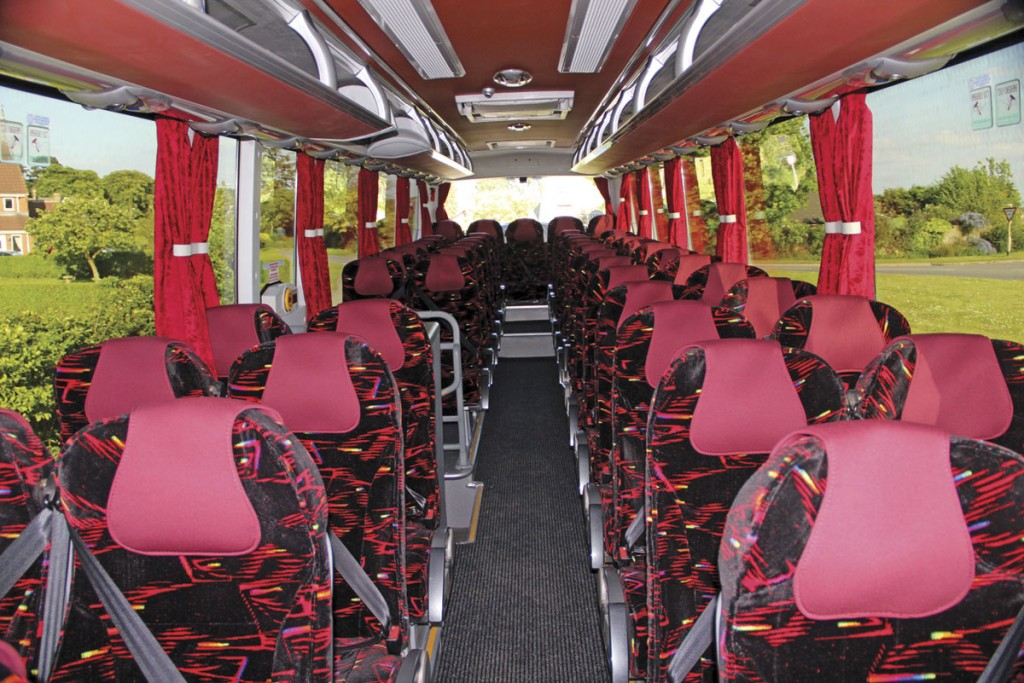 The 51-seat interior from the front