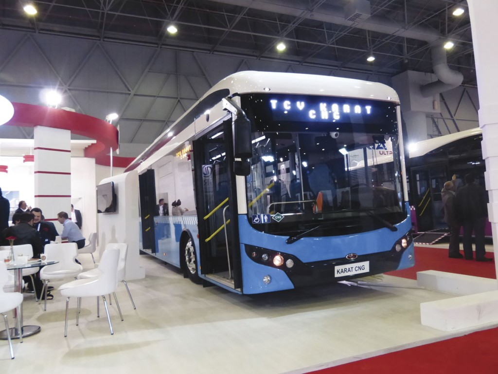 The TCV Karat 12-metre low floor CNG bus
