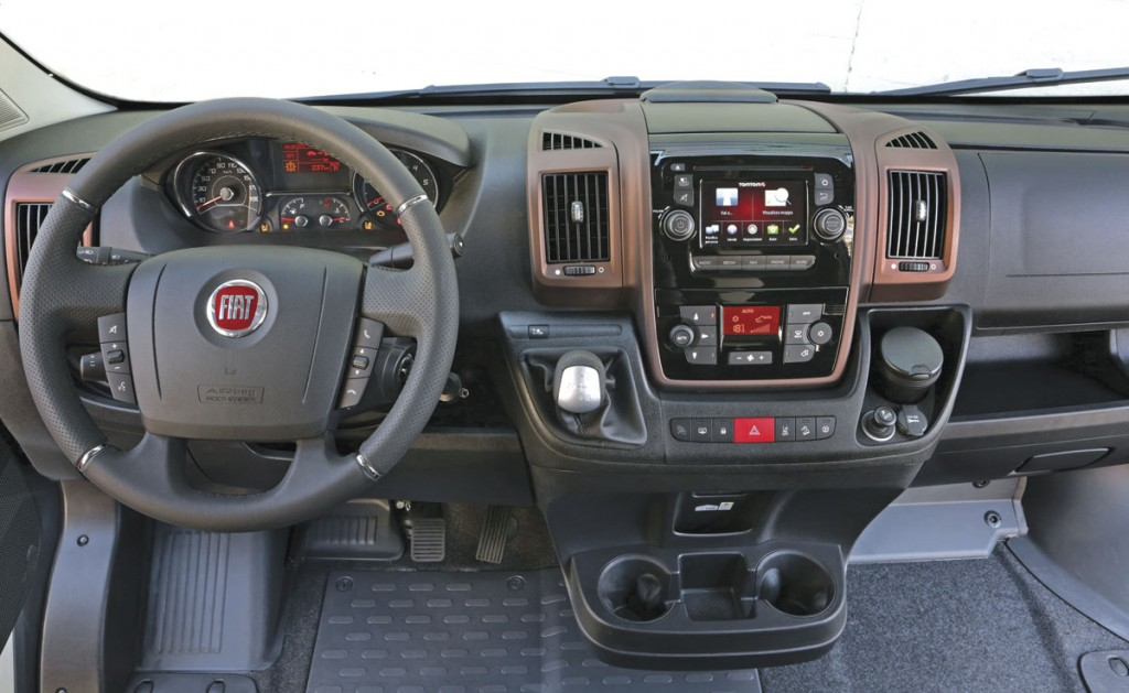 The cab of the 3.0l 180 Ducato